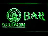 Captain Morgan Original Bar LED看板 ネオンサイン ライト 電飾 広告用標識 W30cm x H20cm グリーン