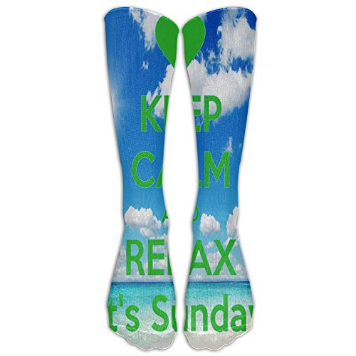 Nifdhkw Jeffostie Keep Calm And Relax Unisex Long Socks Crew Athletic Knee High Stockings