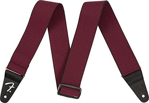 Fender® WeighLess® - Correa de tweed, color rojo