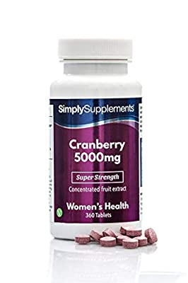 SimplySupplements Cranberry 5000mg | 360 Tablets | 100% money back guarantee | Manufactured in the UK from Simply Supplements
