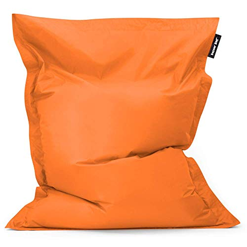 Bazaar Bag - Giant Bean Bag Chair, 180cm x 140cm, Large Indoor Living Room Gamer Bean Bags, Outdoor Water Resistant Garden Floor Cushion Lounger (Orange)