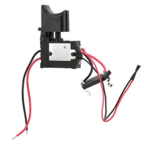 Interruptor de gatillo de control de velocidad de taladro inalámbrico de batería de litio de 7,2 V - 24 V con luz pequeña, ajuste de velocidad, para taladro eléctrico de mano u otras herramien