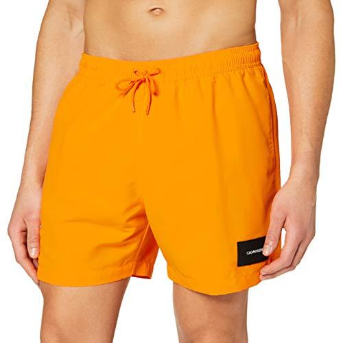 Calvin Klein Medium Drawstring Bañador de natación, Naranja (Turmeric 804), XXL para Hombre