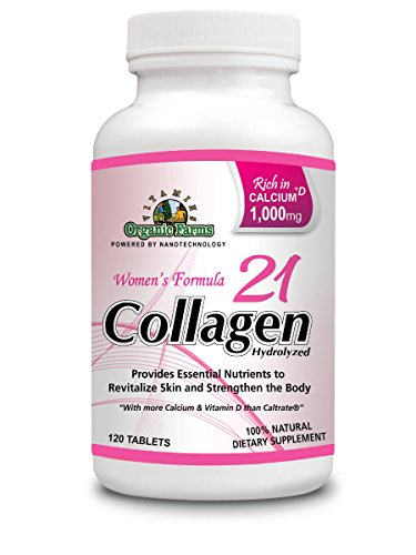 Collagen 21 Hydrolyzed, Collagen for Women - Joints, Strengthens Bones & Skin - Collagen Women´s Formula 100% Natural Highly Concentrated - Collagen Pills Rich in Calcium & Vitamin D, 120 Tablets