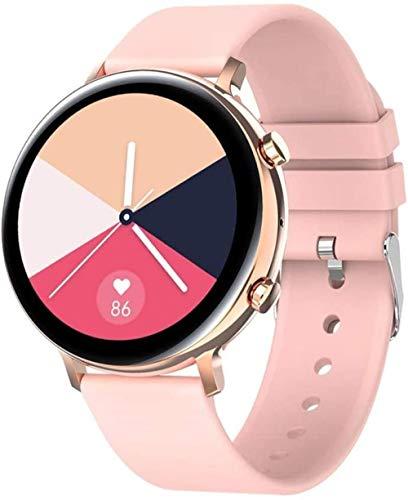 Reloj Inteligente Hombres Mujeres Bluetooth Llamada Smartwatch Hd Pantalla ECG+PPG Smartwatch Ip68 Impermeable para iOS Android-Oro Rosa