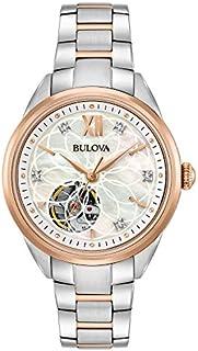 Bulova Mujeres Automatic-self-Wind Reloj con correa de acero inoxidable, dos tonos, 15 (Modelo: 98P170