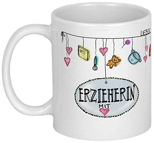 My Sweetheart® Erzieherin Geschenk hübsche PERSONALISIERBARE Erzieherin Tasse Danksagung Kindergärtnerin