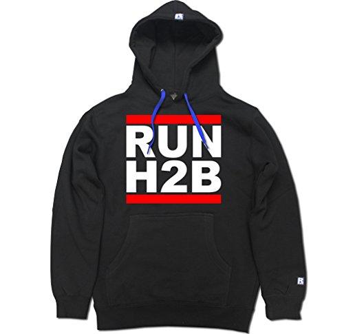FTD Apparel Men's Run H2B Motor Pullover Hooded Sweater - XL Black