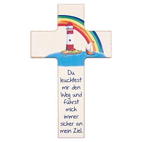 FRITZ COX® - Kinder- Holzkreuz: 'Leuchtturm' - tolles Präsent für Jungen & Mädchen