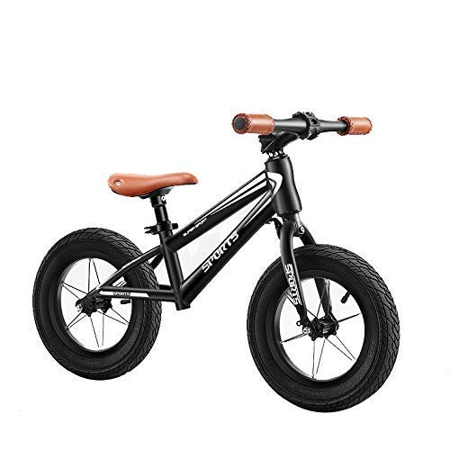 Amazing Deal YPYJ Mium Alloy Frame Child Balance Bike Pedalless Bike Height-Adjustable Seat and Handlebar for Children Aged 2-6 (Boy, Girl),Black