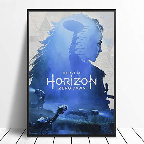 N / A Sin Marco Horizon Zero Dawn Artwork Cover Movie Poster Movie Canvas Poster Wall Art Print Kids Decor Decoración para el hogar