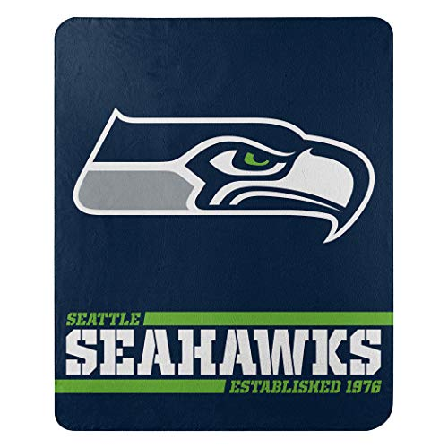 The Northwest Group Offizielle NFL Seattle Seahawks Decke, Fleecedecke in 127 x 152 cm