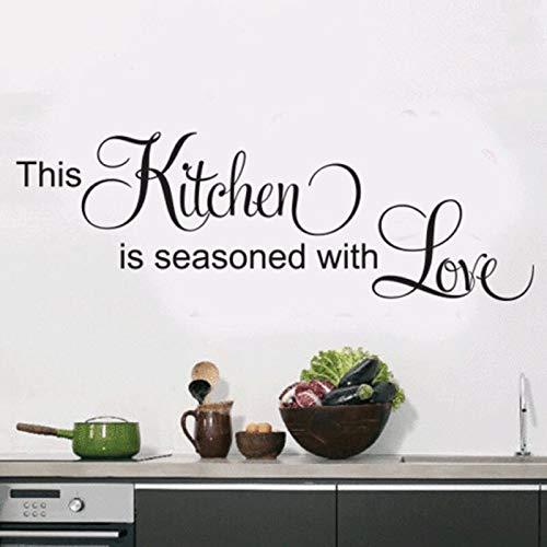 JXFM DIY Pegatinas de Pared de Cocina decoración del hogar Arte Pintura de Pared en inglés calcomanía de Vinilo para Pared azulejo Adhesivo Impermeable 75x153cm