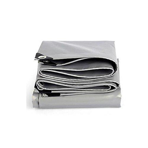 Bâche polyvalente polyvalente bâche tente abri imperméable résistant aux intempéries Forte renforcé gris Poly Tarp -0.45mm-550g / m² Imperméable et durable (Couleur : Silver, taille : 3x 5m)