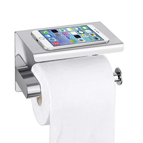 Bellkey Toilettenpapierhalter,klorollenhalter Selbstklebend SUS304 Edelstahl Rollenhalter Wandhalterung Klopapierhalter wc Papier Halterung