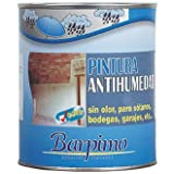 Barpimo Pintura Antihumedad Sin Olor, para Sotanos, bodegas, garajes, ect. 750ML