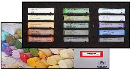Schmincke Soft Pastel Cardboard Box Set - 15 Stick SELECCIÓN Paisaje - Art Supplie Extra Blanda (Made in Germany) Extra Fein - Kunstlerische Qualitäts