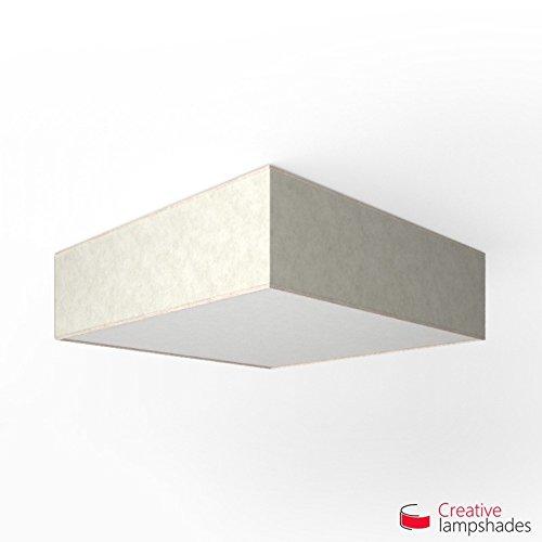 Creatieve lampenkappen Vierkante plafondlamp met wit perkamentdeksel Side 50cm - H. 15cm