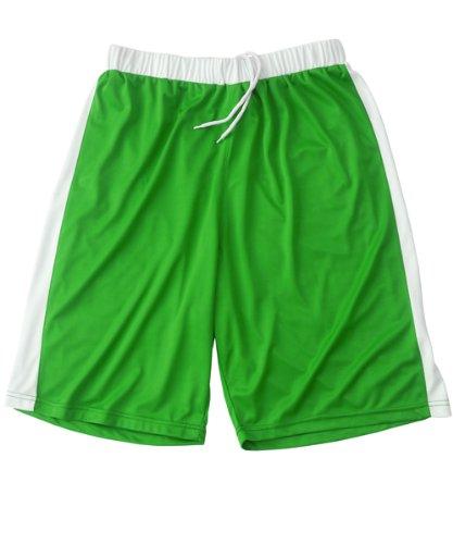 Visiodirect Short Basketball 100% Polyester pour Homme de Taille Small de Couleur Vert