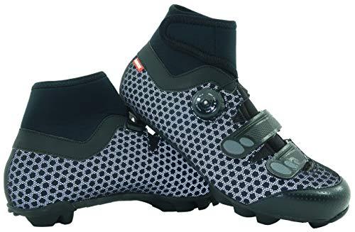 LUCK Zapatillas de Ciclismo para Invierno Winter MTB, con Suela de Carbono SHD, y Sistema rotativo de precisión acompañada de 2 velcros. (43 EU)
