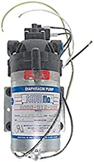Powr-Flite SF814 EPDM Shur-Flo Pump, 100 psi, 1.4 GPM Maximum Flow, 3/8