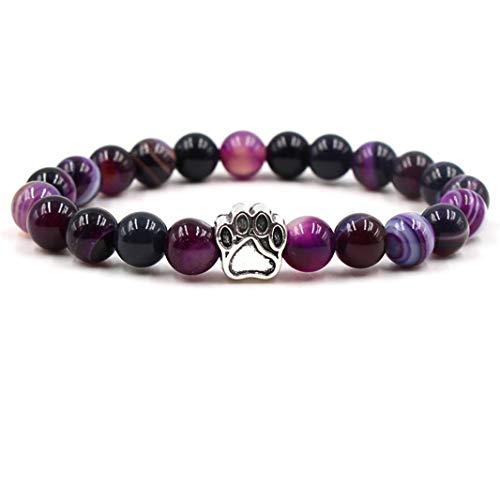 Sperrins Women Girls Diffuser Bracelet for Christmas Thanksgiving Bracelet Yoga Balancing Reiki Healing Charm Beads Bracelet Purple