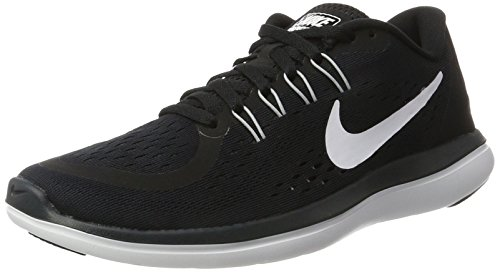 Nike Womens Flex 2017 RN Running Shoe Black/White/Anthracite/Wolf Grey 5 B(M) US