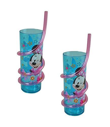 Disney Minnie Mouse Bow-tique Lot de 2 gobelets à paille torsadée en SAN 400 ml