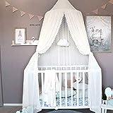 COCD Baby Baldachin Betthimmel Kinder Bett Chiffion Hängende Moskiton für Schlafzimmer Höhe 240 cm fürs Weihnachts geschenk - 3