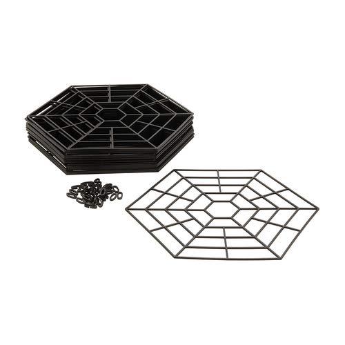 Grille de protection pour bassin de 300 mm x 270 mm - Grilles hexagonales robustes en plastique s'emboîtent rapidement et facilement pour protéger les poissons des chats, hérons et autres prédateurs.