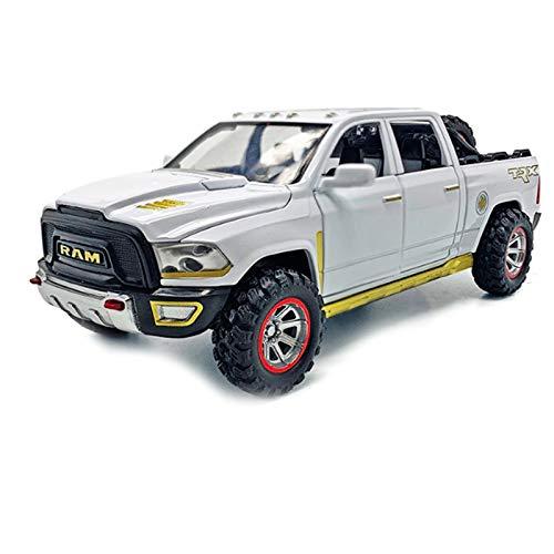 Nrpfell 1:32 Modelo de Camioneta Pickup de AleacióN con Sonido de NeumáTico de Repuesto y Juguete de Retorno de Luz para Cumplea?Os de Ni?Os Blanco