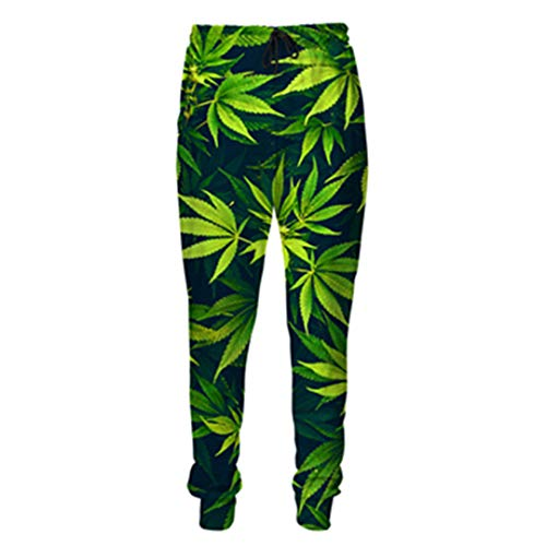 Männer Hosen Grün Weed Print 3D Mens Womens Casual Joggers Pants Color as The picture3 5XL