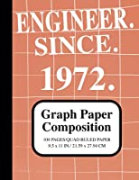Engineer Since1972 Notebook: Graph Paper Composition Notebook: Grid Paper Notebook for Engineers Graduated Since 1972, Quad Ruled, 100 Sheets (Large, 8.5 x 11) (Graph Paper Notebooks)