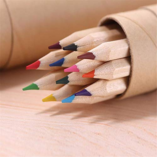 NIUPAN 12 kleuren klein potlood schilderij kleurpotlood student kantoorbenodigdheden schrijven schilderen trompet standaard potlood