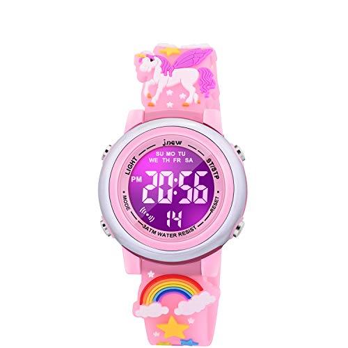 SUPZOE regalos para niñas de 3 a 10 años, relojes para niñas juguetes para niñas de 4 a 10 años, mejor regalo de cumpleaños divertido para niñas de 3 4 5 6 7 8 años – unicornio rosa