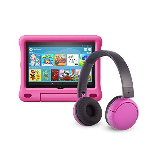Das neue Fire HD 8 Kids Edition-Tablet (32 GB, pinke kindgerechte Hülle) mit...