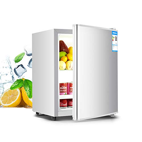 FRIDGE 21L Frigorífico Pequeño Nevera Eléctrica Termostato Regulable Nevera Retro Ahorro De Energía Frigorífico Table Top Silenciosa Mini Nevera con Compresor 50CM