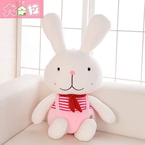 DONGER Kaninchen Puppe Spielzeug Langohrigen Kaninchen Größe Größe Sü Puppe mädchen Kind Geburtstagsgeschenk, Rosa Student Kaninchen, 55cm