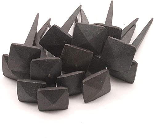 Clavos tradicionales forjados a mano antiguos, rústicos y antiguos, estilo victoriano, cabeza de hierro forjado negro, clavos de madera para puerta de muebles, 1 kg