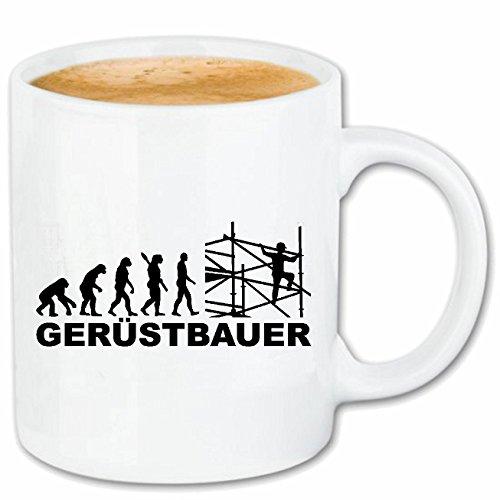 Bandenmarkt koffiemok steigerboer - steil - steigerbouwers - valbeveiliging - valbeveiliging - keramiek 330 ml in wit