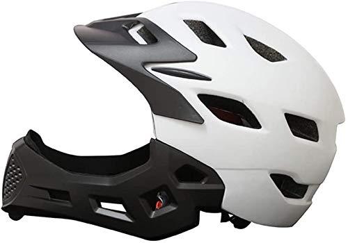 SongJX-Love Juguetes Enfriar Cubierta Completa del niño Casco del Patinaje Equipo de Protección Bicicleta de Equilibrio niños de la Cara Llena del Casco Blanco Un tamaño GZZXW