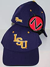 ZHATS LSU Louisiana State University Tigers Purple Yellow Gold DH Flex Fitted Adult Mens Hat/Cap Size Medium Large