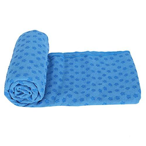 Manta de Estera de Yoga Toalla de Estera de Yoga Absorbente Suave para Gimnasio para Pilates(Sky Blue)