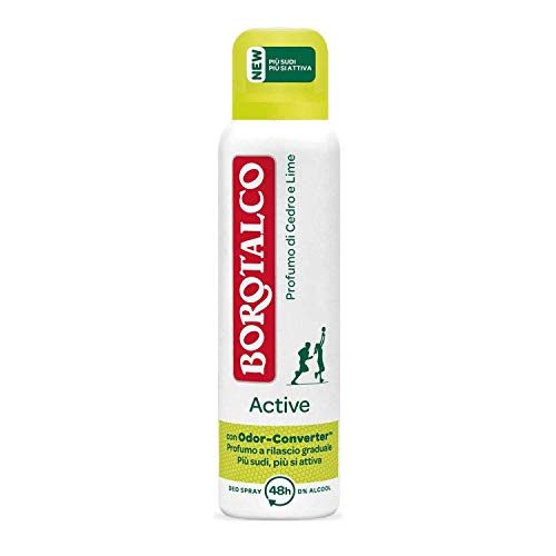 6x Borotalco Roberts Active Zeder und Limette deodorant deo spray 150ml
