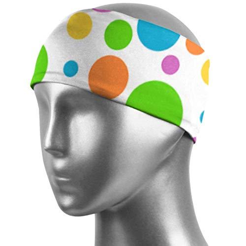 Verctor Bandeau Filles Sports Polka Dot Polka Design Dot Hair Band Unisex Moisture Wicking