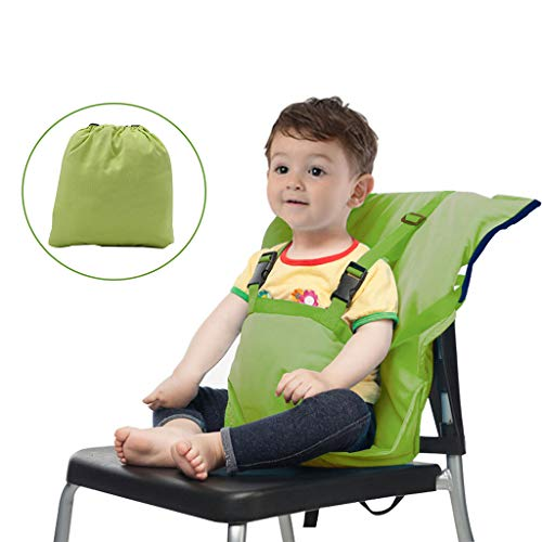 Baby Sitzbezug Reise Kleinkind Hochstuhl Sicherheits Gurt Tragbar Säugling Sack Gürtel,Grün