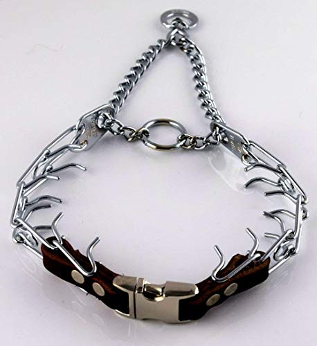 Herm Sprenger Chrome Prong Collar with Pawmark...