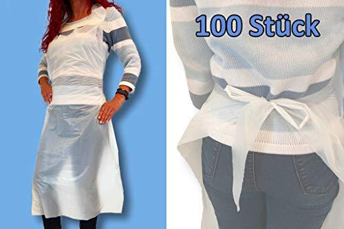 100 unidades de delantales desechables impermeables 75 x 120
