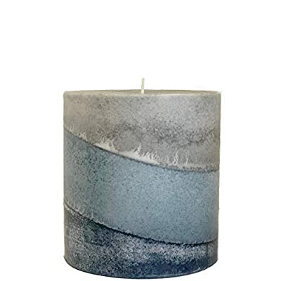Wicks N More Indigo Mist Handmade Pillar Candles (4x4) by Wicks N More