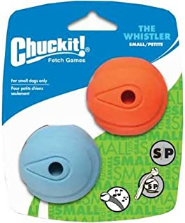 "Chuckit! Whistler Ball Small 2"" - 2pk, Assorted Orange & Blue"